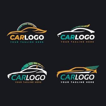 Colección de logotipos de autos planos