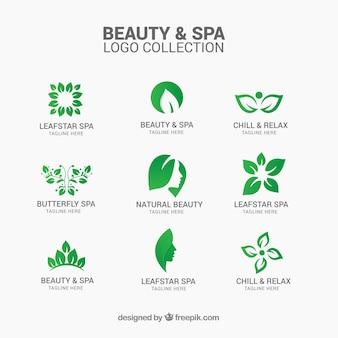 Colección de logotipos de belleza y spa