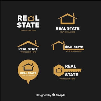 Colección de logotipos de bienes raíces
