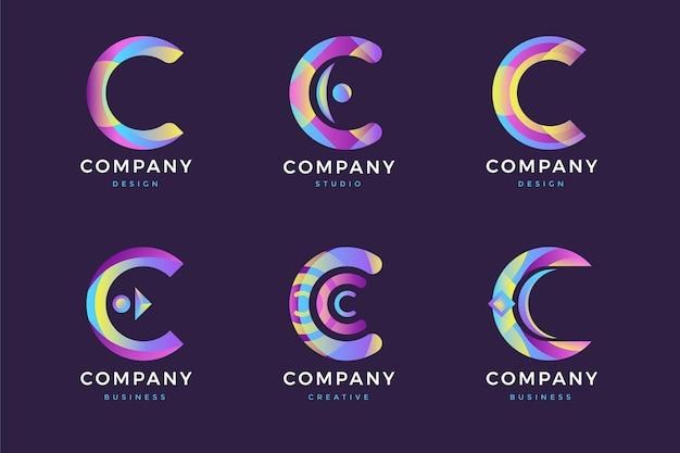 Colección de logotipos c vector gratuito