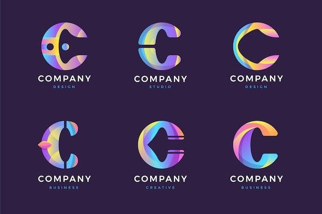 Colección de logotipos c Vector Premium