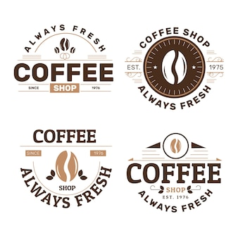 Colección de logotipos de cafeterías retro