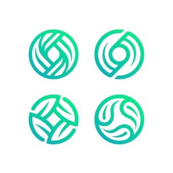 Colección de logotipos de círculo