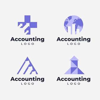Colección de logotipos de contabilidad