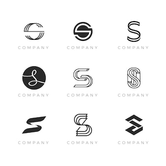 Colección de logotipos creativos de flat s