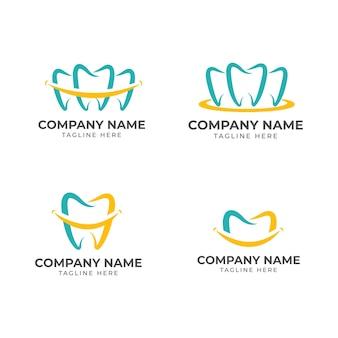 Colección de logotipos dentales