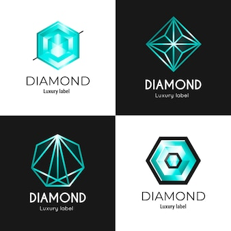 Colección de logotipos de diamantes diferentes