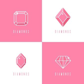 Colección de logotipos de diamantes