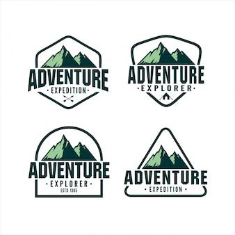 Colección de logotipos de diseño adventure explorer