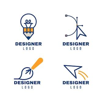 Colección de logotipos de diseño gráfico moderno