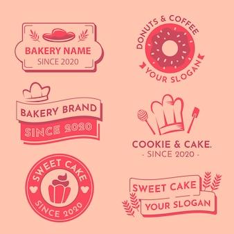 Colección de logotipos de diseño minimalista en dos colores.