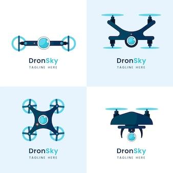 Colección de logotipos de drones