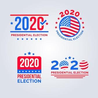 Colección de logotipos de elecciones presidenciales de ee. uu. 2020