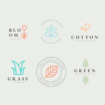 Colección de logotipos empresariales en estilo minimalista