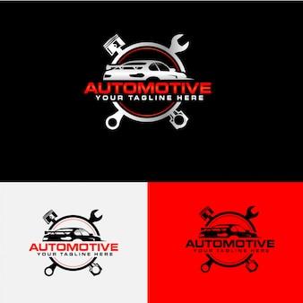 Colección de logotipos de empresas de servicios de automóviles