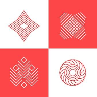 Colección de logotipos en estilo lineal