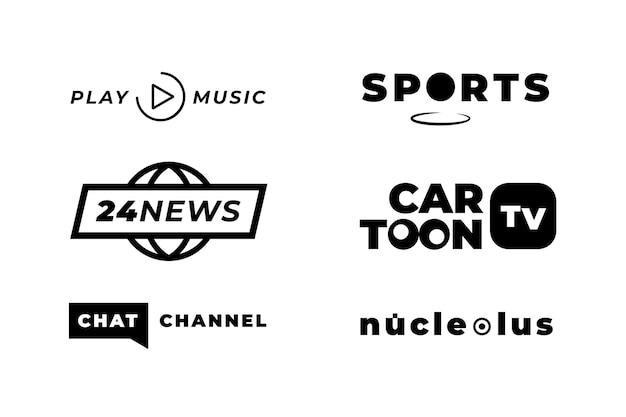 Colección de logotipos de estilo de noticias