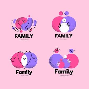 Colección de logotipos familiares