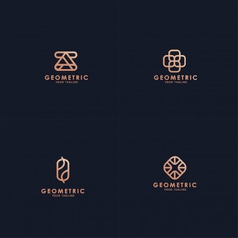 Colección de logotipos geométricos.