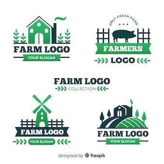 Colección de logotipos de granja