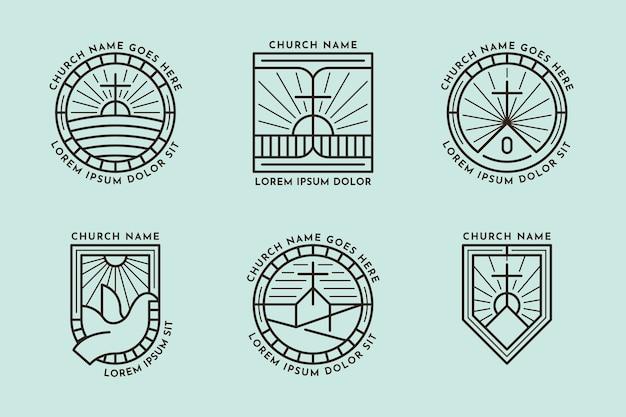 Colección de logotipos de la iglesia