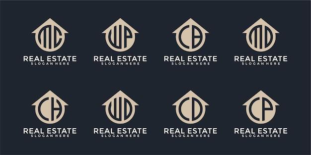 Colección de logotipos inmobiliarios de letras