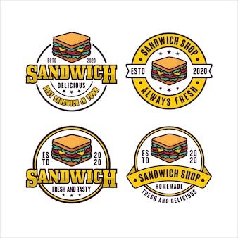 Colección de logotipos de insignias de sándwiches