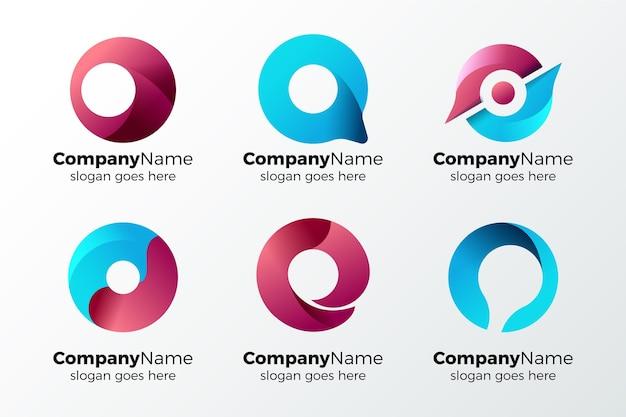 Colección de logotipos letra o alfabética