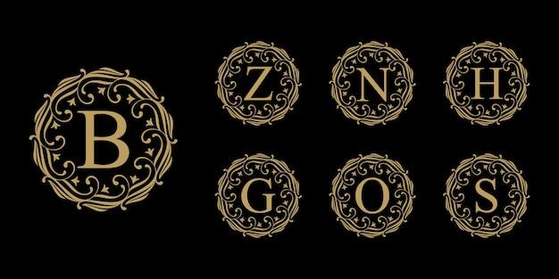 Colección de logotipos de letras de lujo vintage