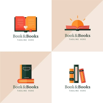 Colección de logotipos de libros
