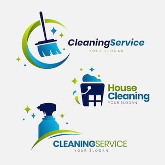 Colección de logotipos de limpieza