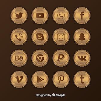 Colección de logotipos de lujo para redes sociales