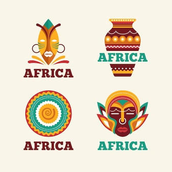 Colección de logotipos de mapas de áfrica
