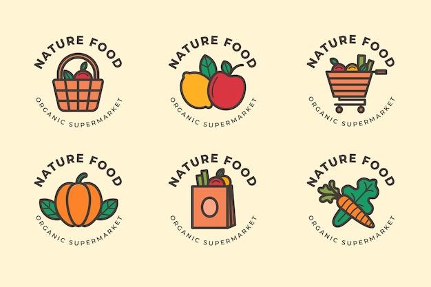 Colección de logotipos del mercado
