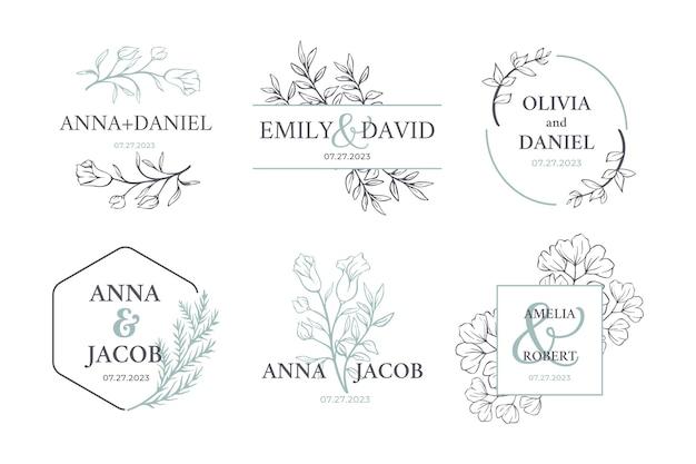 Colección de logotipos de monogramas de boda