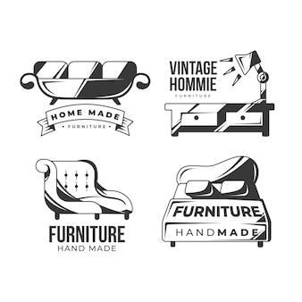 Colección de logotipos de muebles retro