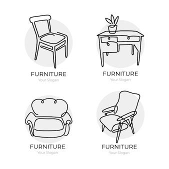 Colección de logotipos de muebles