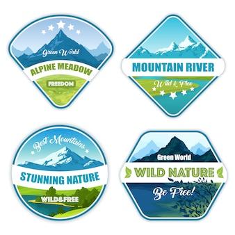 Colección de logotipos de naturaleza salvaje