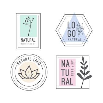 Colección de logotipos de negocios de estilo minimalista natural