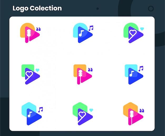 Colección de logotipos de podcast
