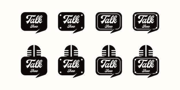 Colección de logotipos de programas de entrevistas, inspiración de logotipos