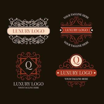 Colección de logotipos vintage de lujo
