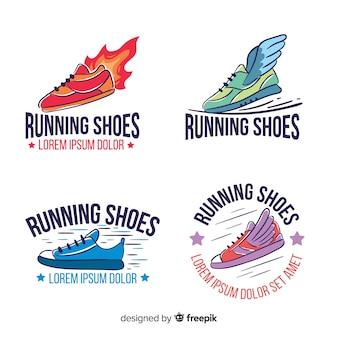 Colección de logotipos de zapatos de correr