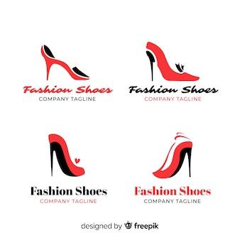 Colección de logotipos de zapatos de moda