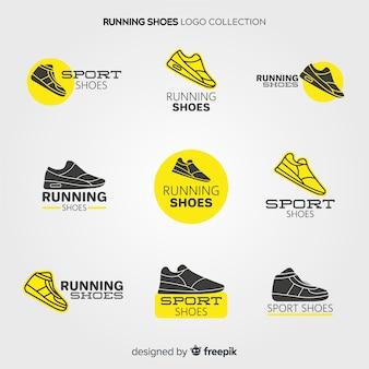 Colección de logotipos de zapatos