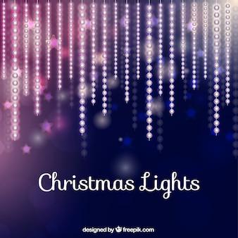Colección de luces de navidad brillantes