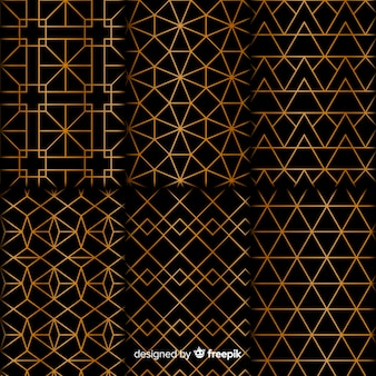 Colección de lujo de formas geométricas