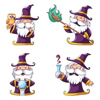Colección de magos de halloween