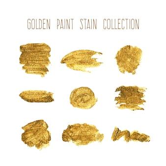 Colección de manchas doradas