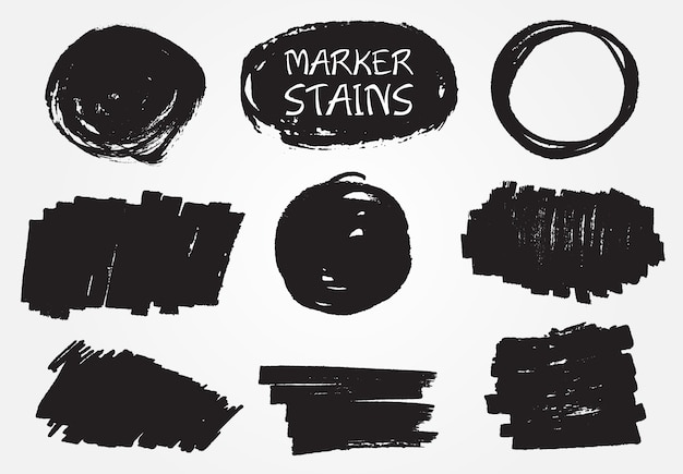 Colección de manchas de rotulador